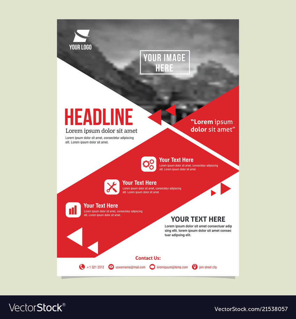 Flyer Template Design Royalty Free Vector Image