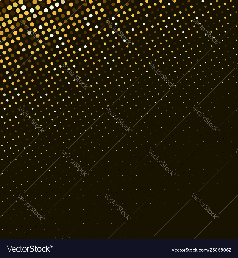 Abstract golden halftone background