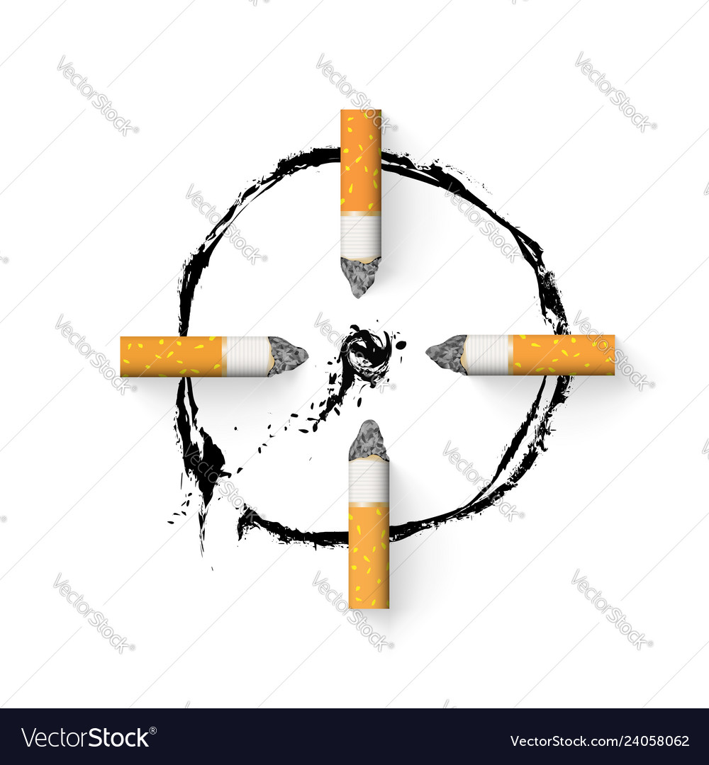 Aim is drawn with a cigarette butt stop
