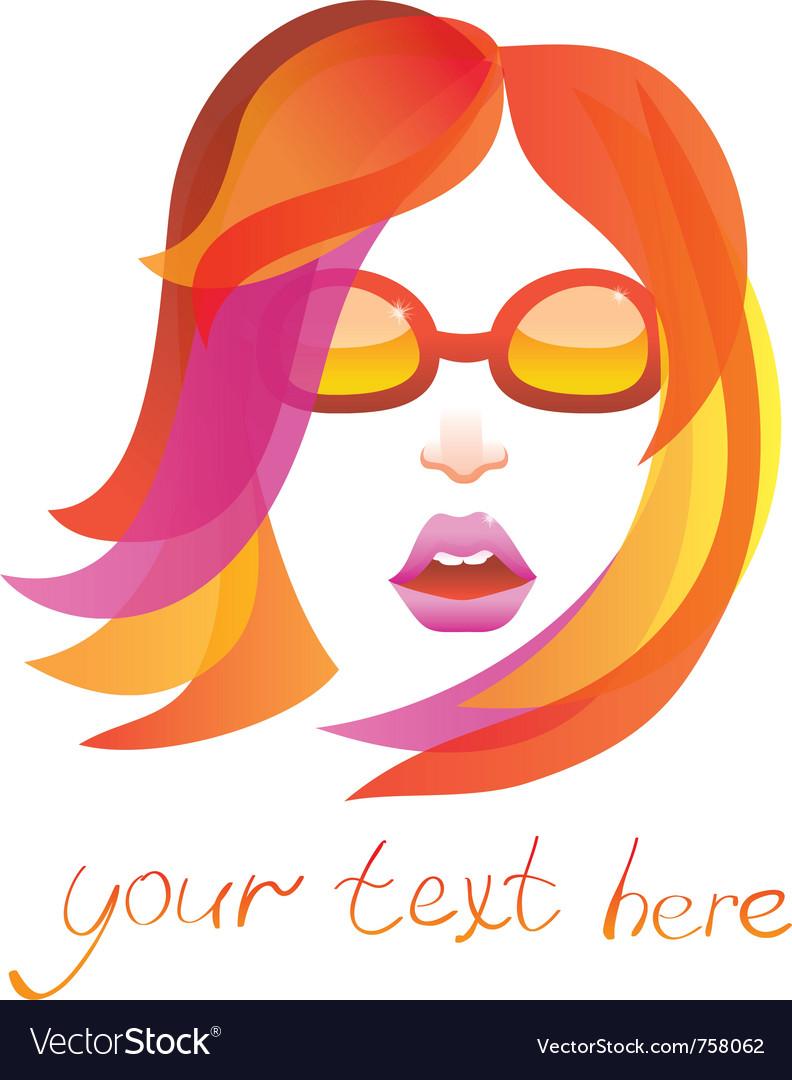 Beauty logo - pretty woman vector image