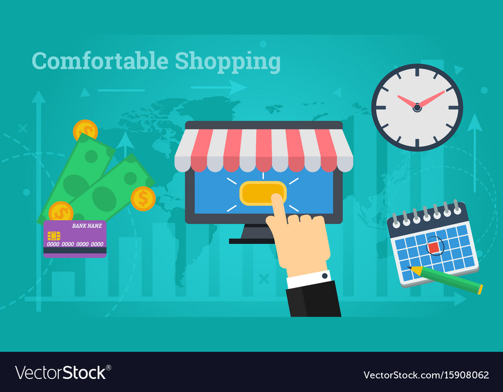 Business banner - comfortable shopping vector image