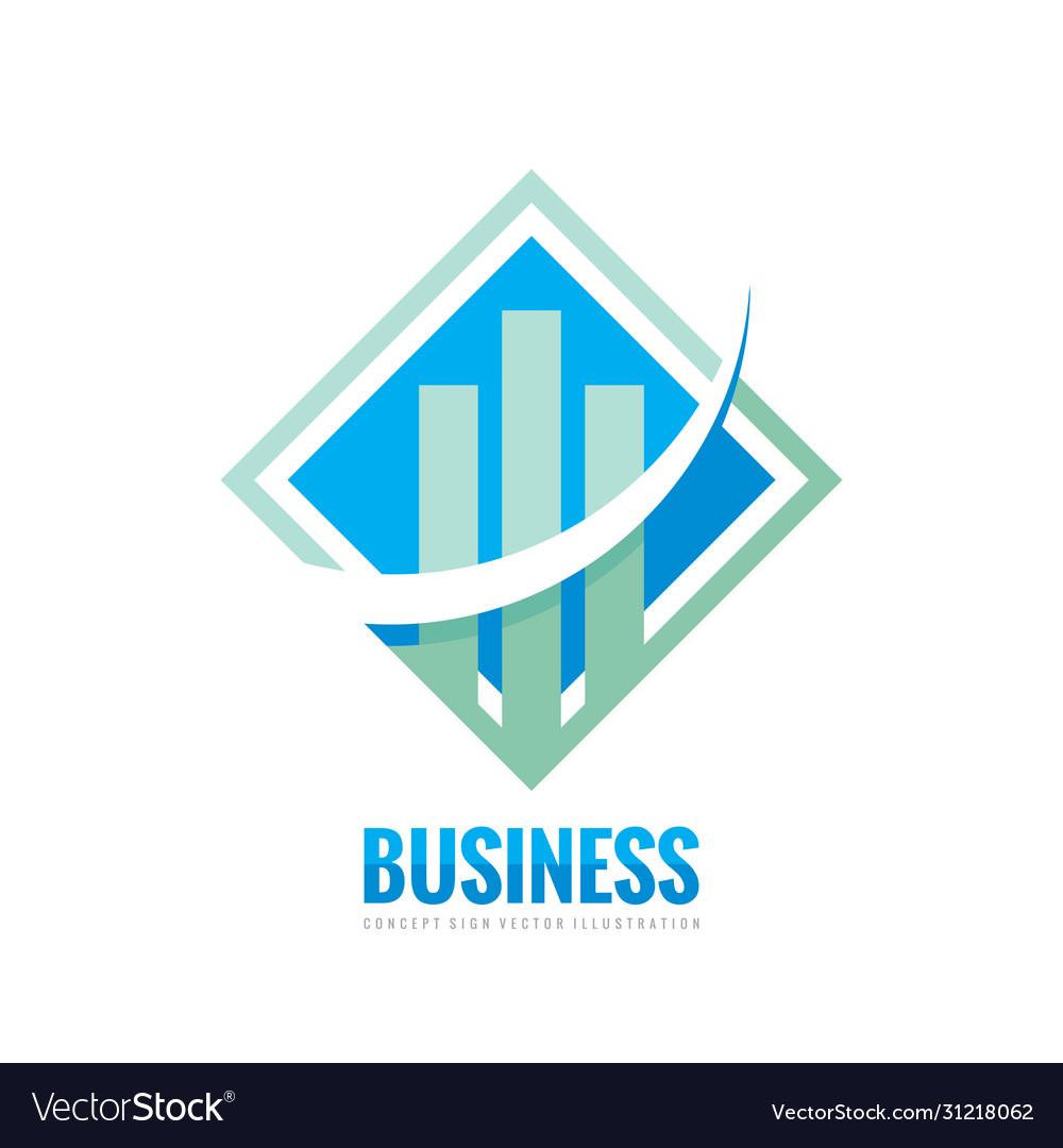 Business finance logo template - concept