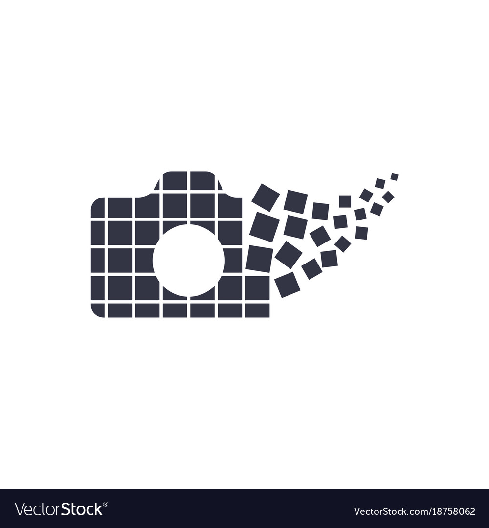Camera Photography Logo Icon Template Royalty Free Vector