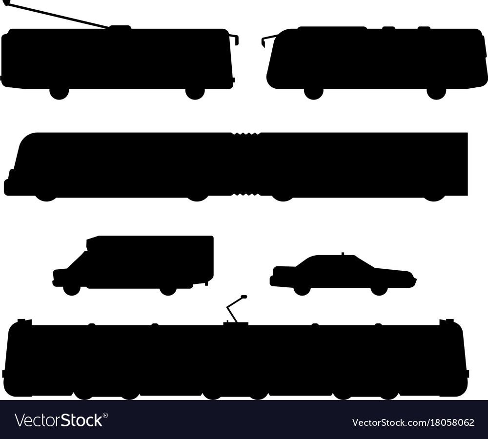 City transport public industry black silhouette
