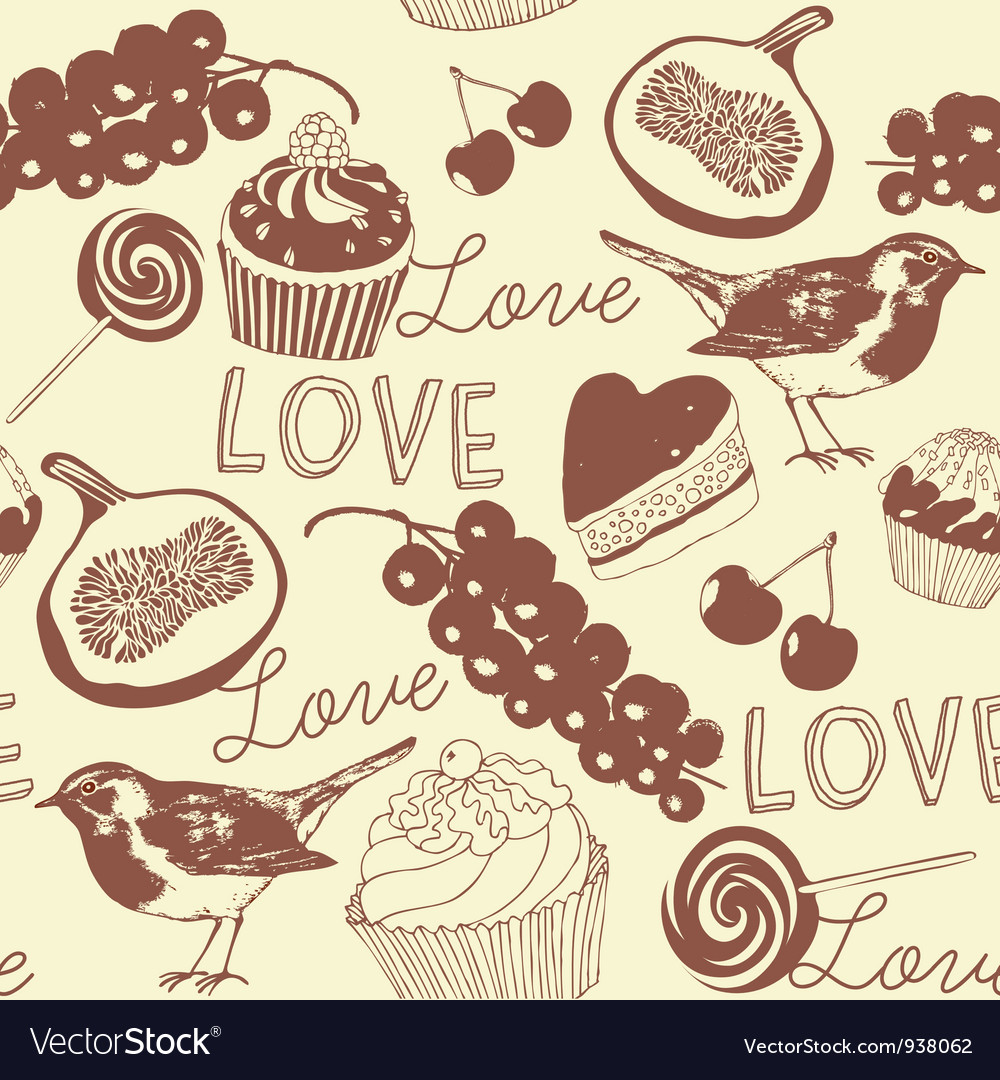 Cupcakes Confectionery Pattern