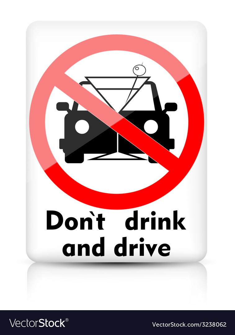 Do not drink and drive vector image