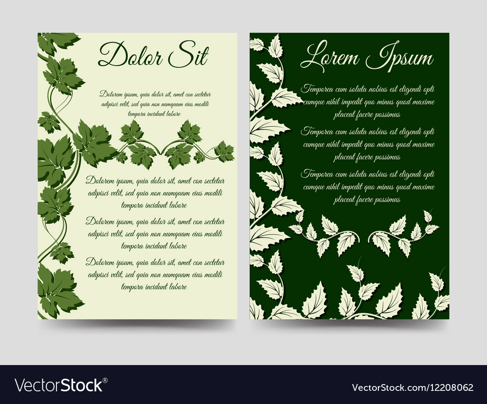 Floral brochure template wich branches