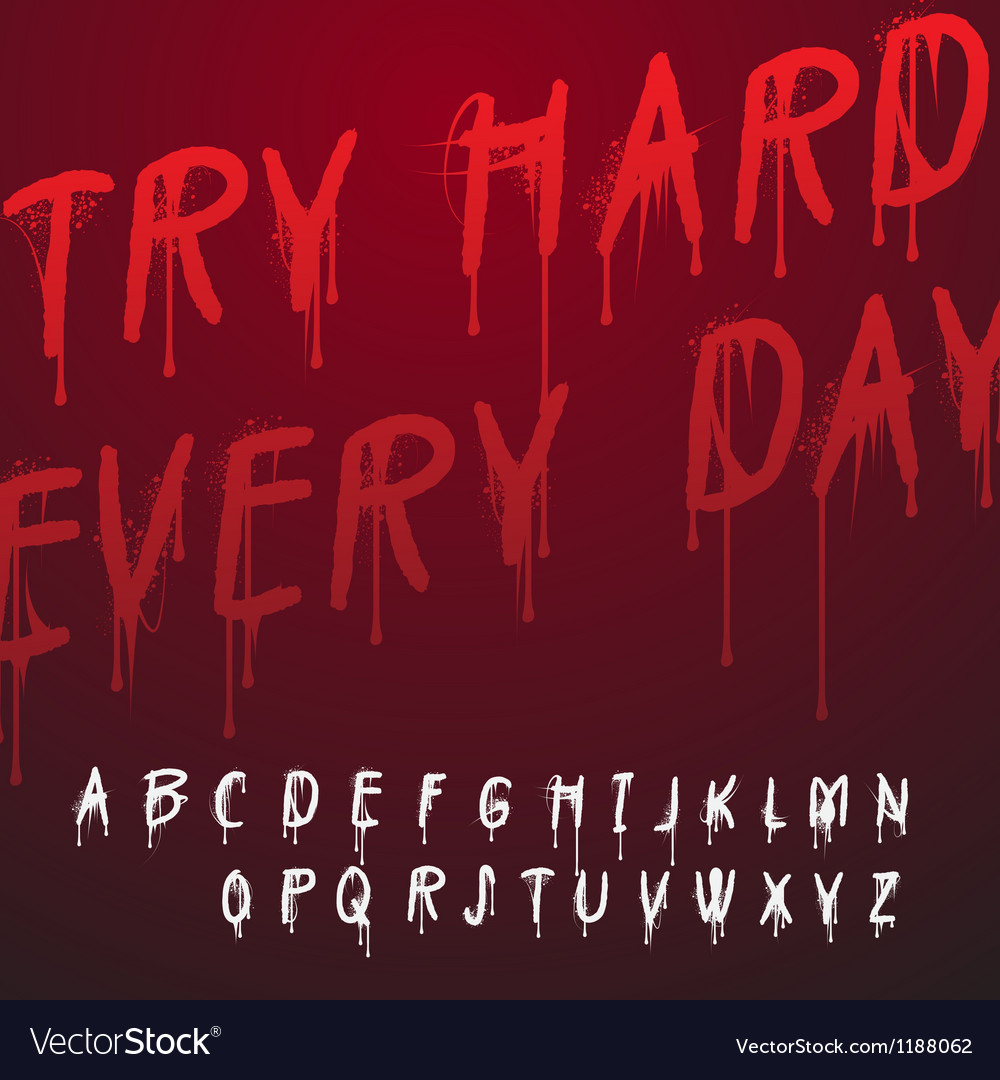 Graffiti splash alphabet vector image