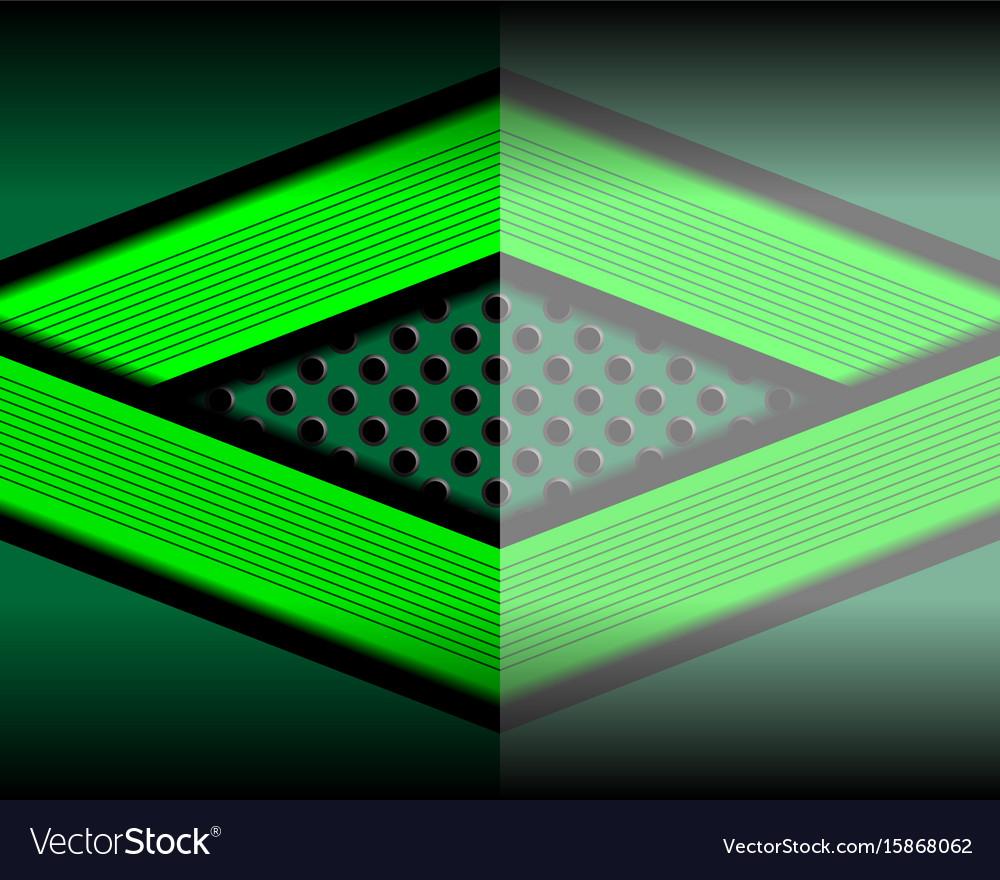 Green geometric modern background vector image