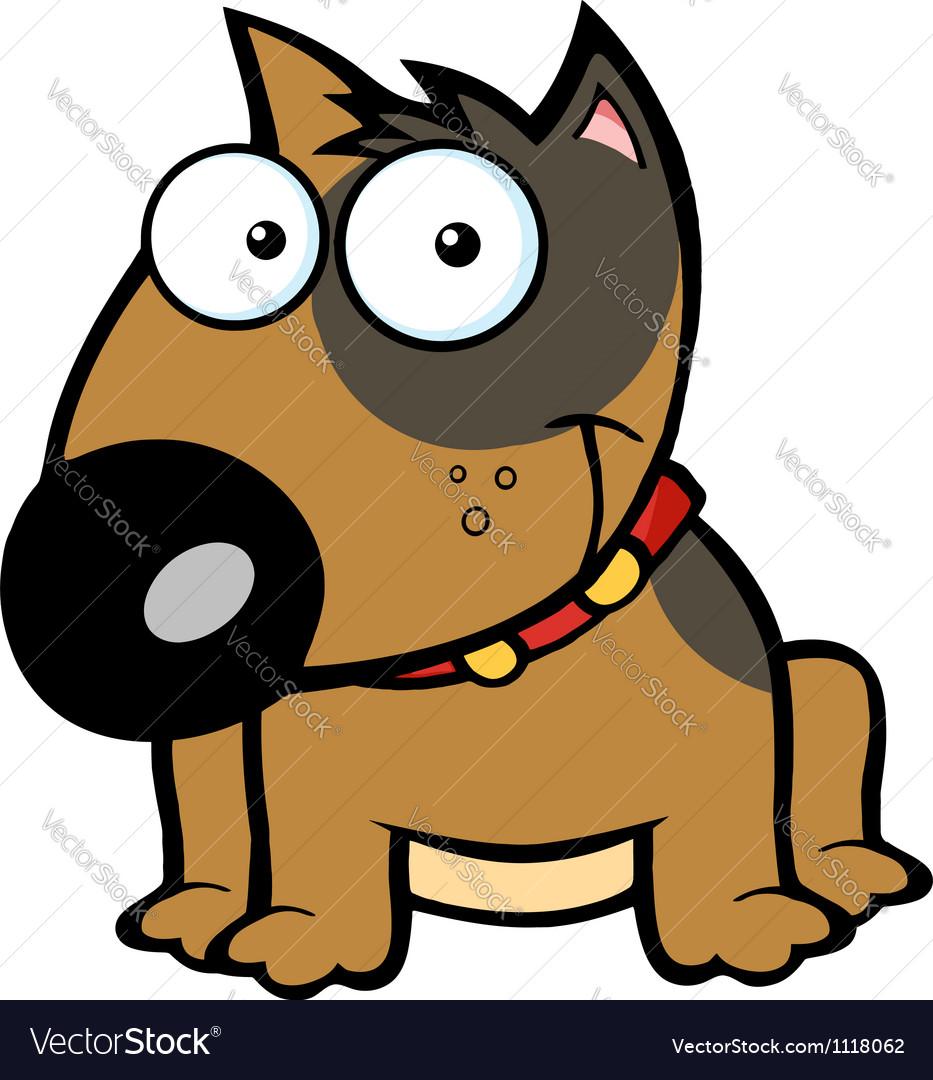 Happy Brown Bull Terrier Sitting