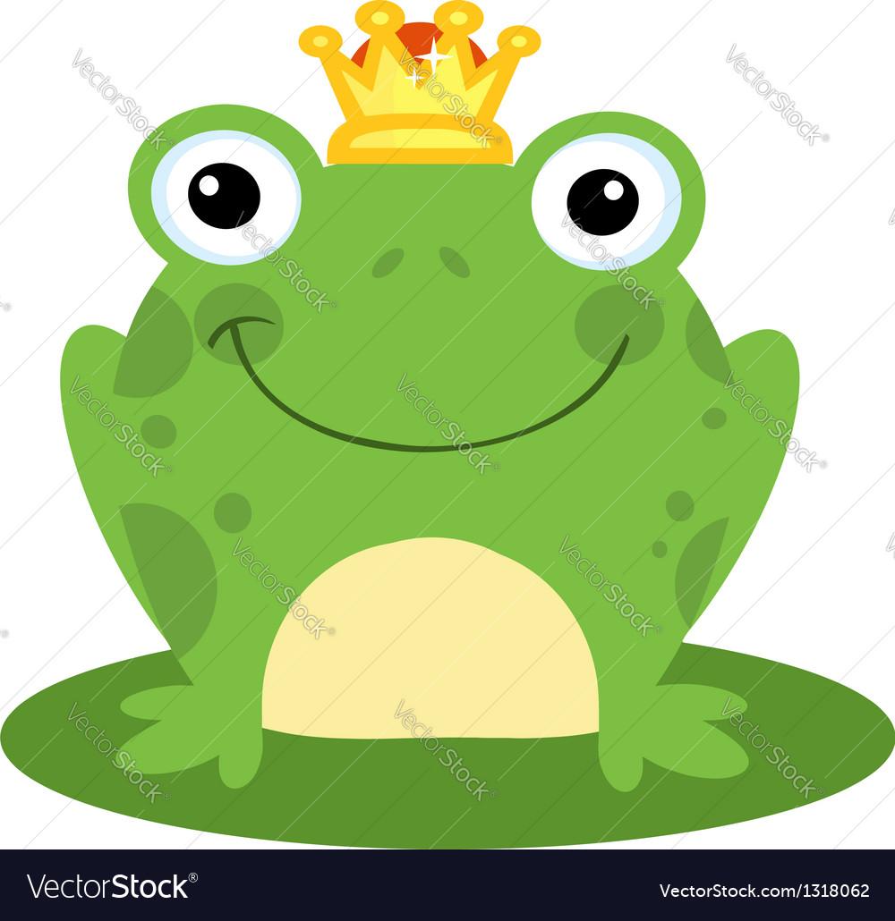 happy frog prince royalty free vector image vectorstock rh vectorstock com Turtle Vector Leaping Frog Clip Art