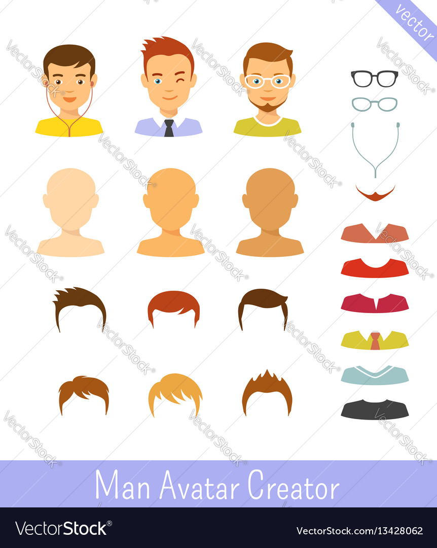 Man avatar creator and male avatars