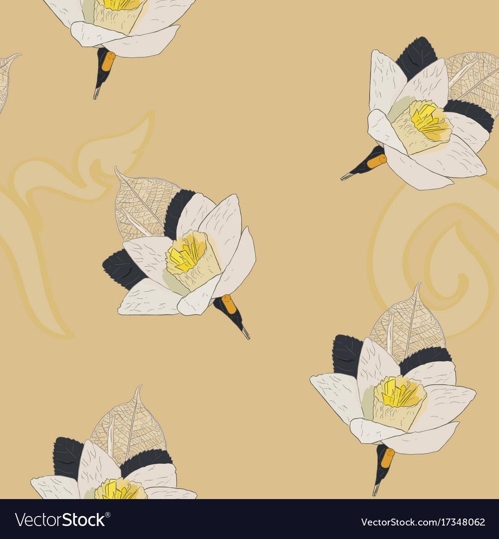 Thai artificial funeral daffodil flower or dok vector image izmirmasajfo