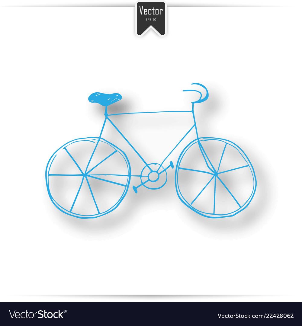 Vintage road bicycle hand drawn