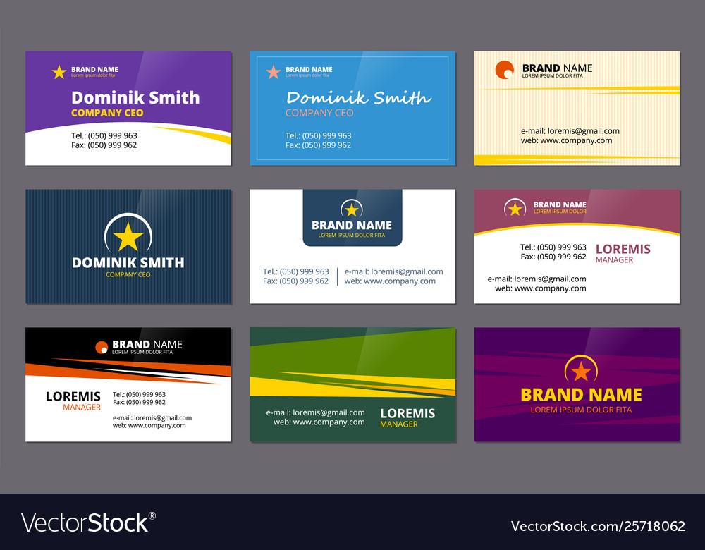 Visit cards business corporate identity elegant