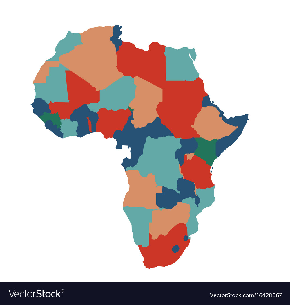 Africa Map Background.Africa Map Art On White Background Royalty Free Vector Image