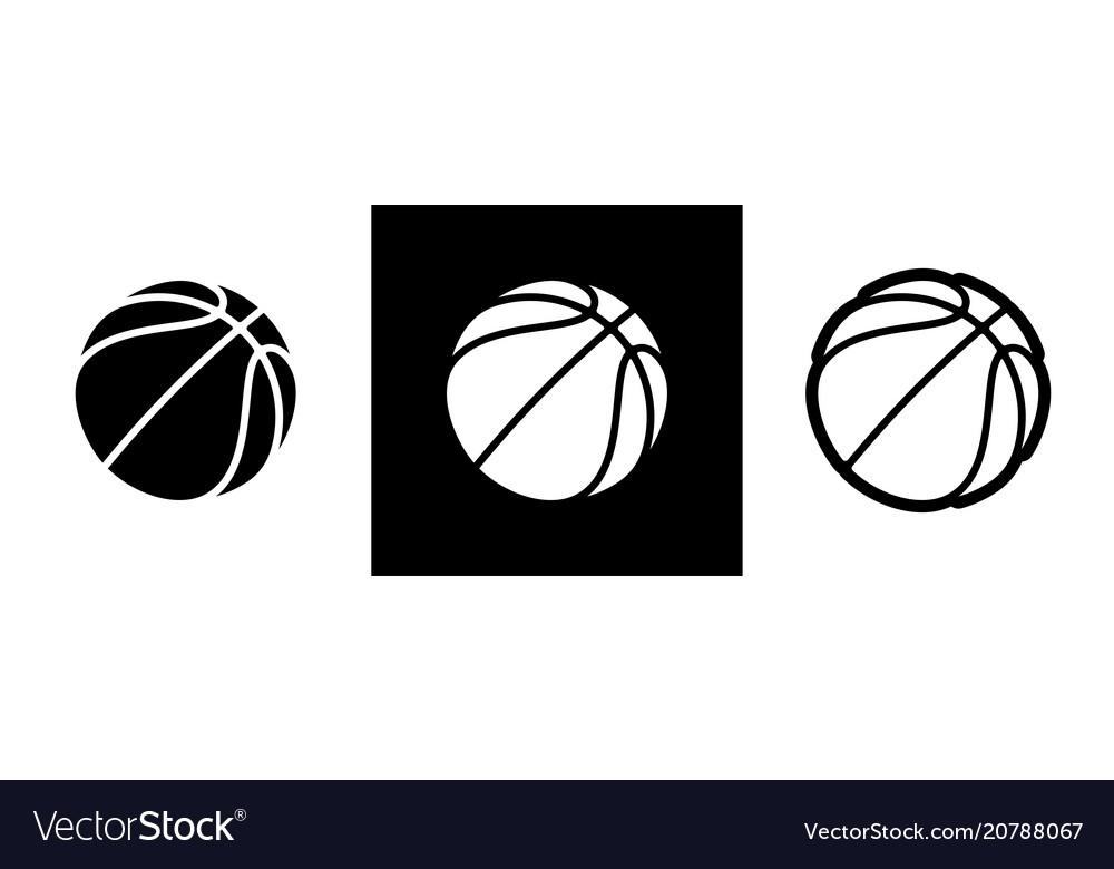 Basketball logo icon streetball vector image