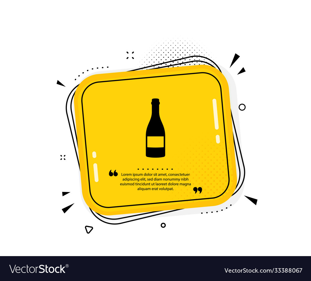 Champagne bottle icon anniversary alcohol sign