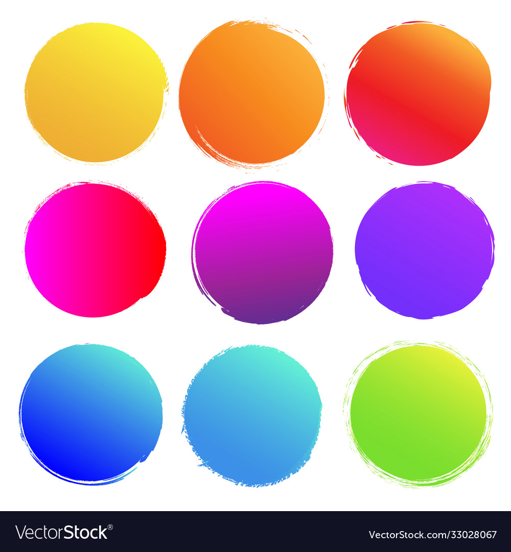 Colorful blobs big set isolated white background