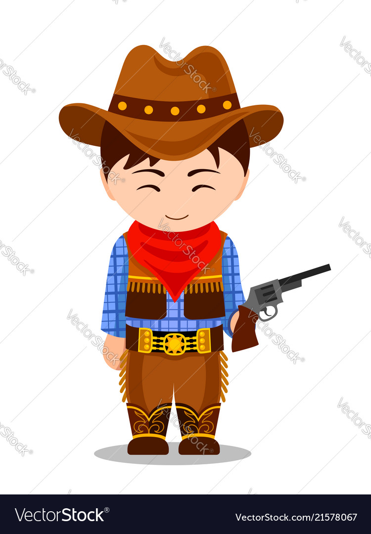 Cowboy child in carnival costume