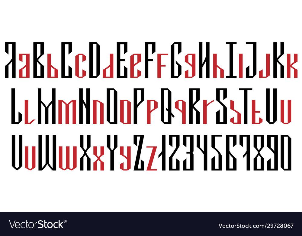 English geometric font cyrillic style
