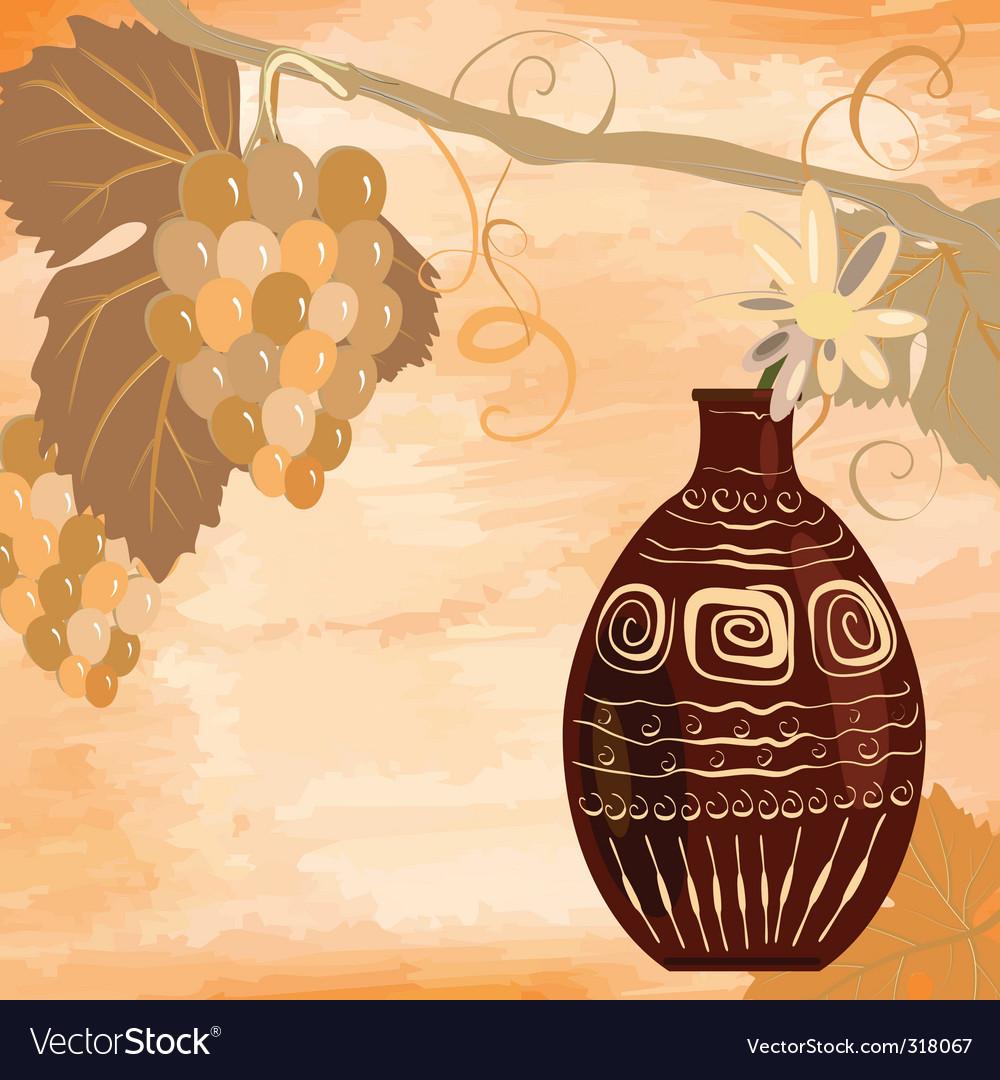 Grunge vine design