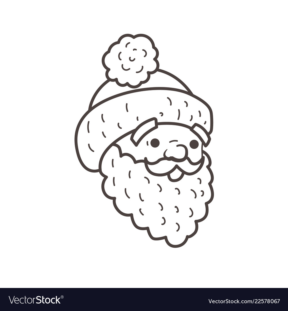 santa hat coloring pages vector images 43