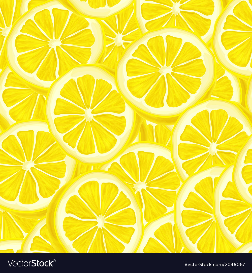 Sliced lemon seamless background