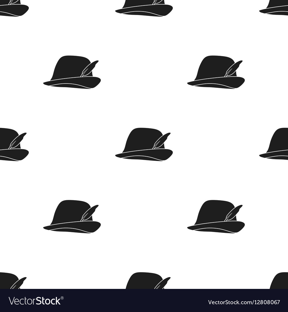 Tyrolean icon in black style isolated on white