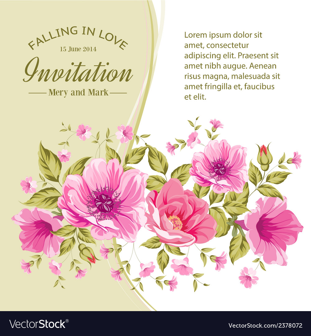 Card With Flowers Royalty Free Vector Image Vectorstock