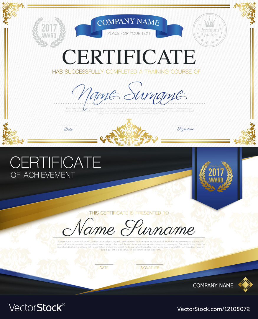 classic elegant certificates collection royalty free vector