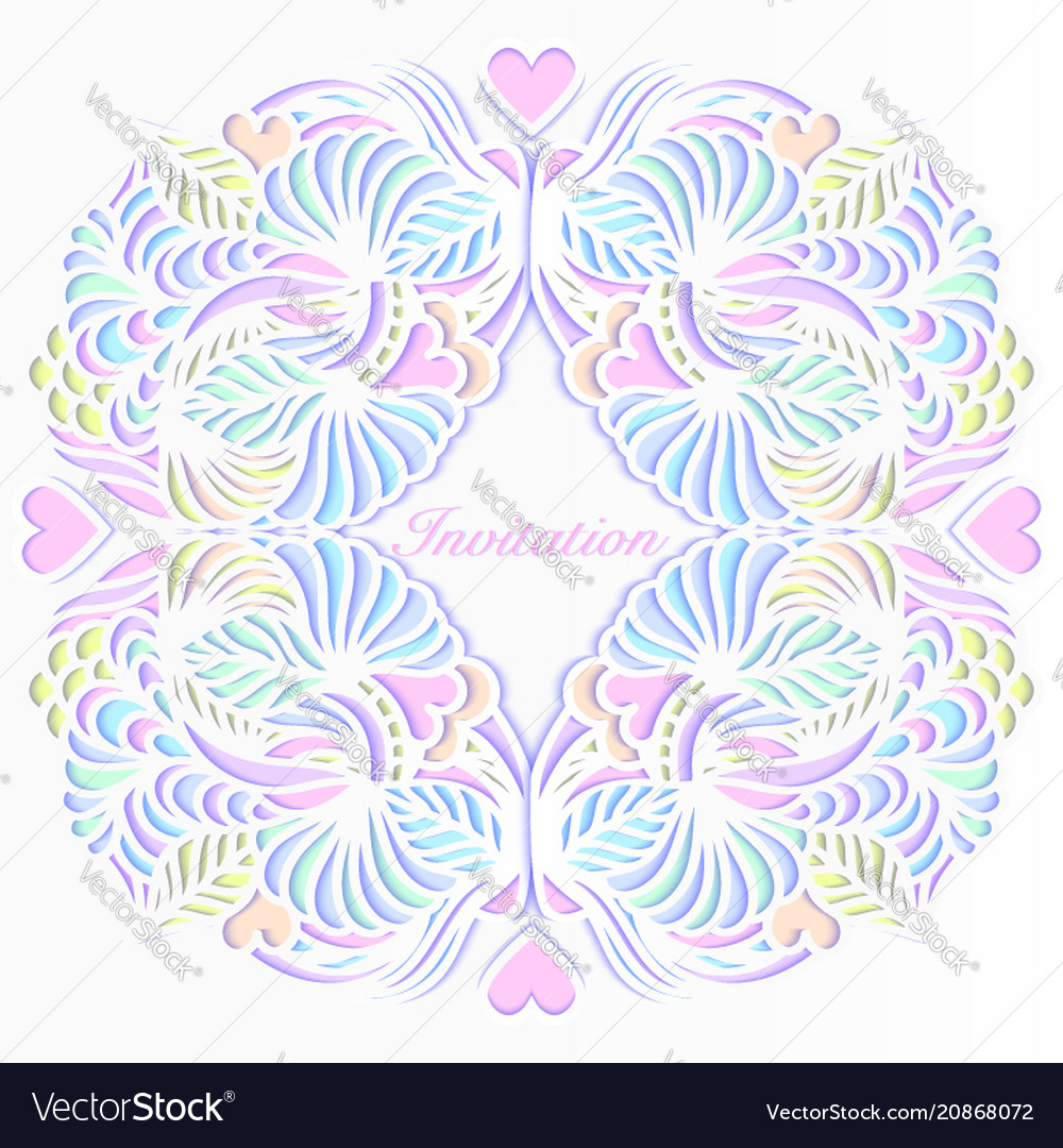 Colorful wedding invitation Royalty Free Vector Image