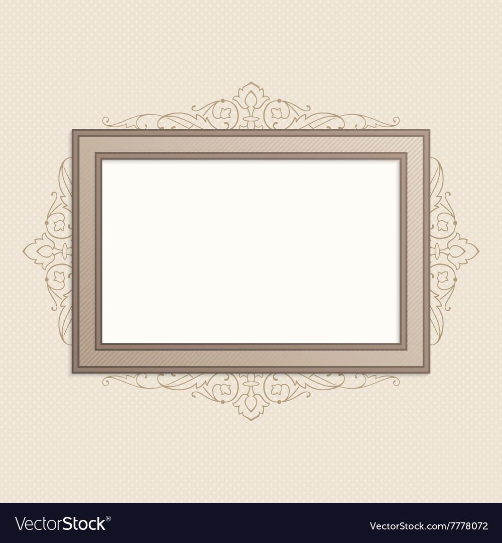 Horizontal vintage frame