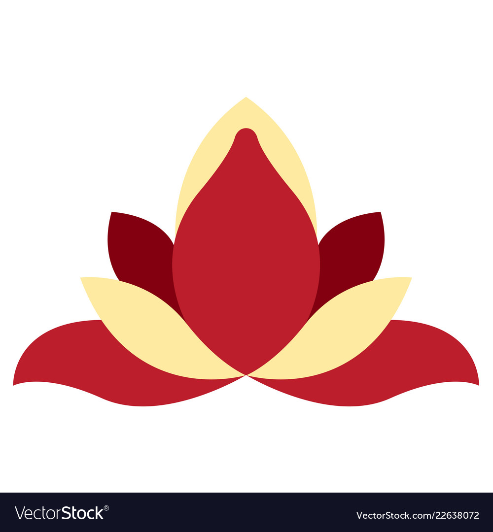 Isolated asian style flower image