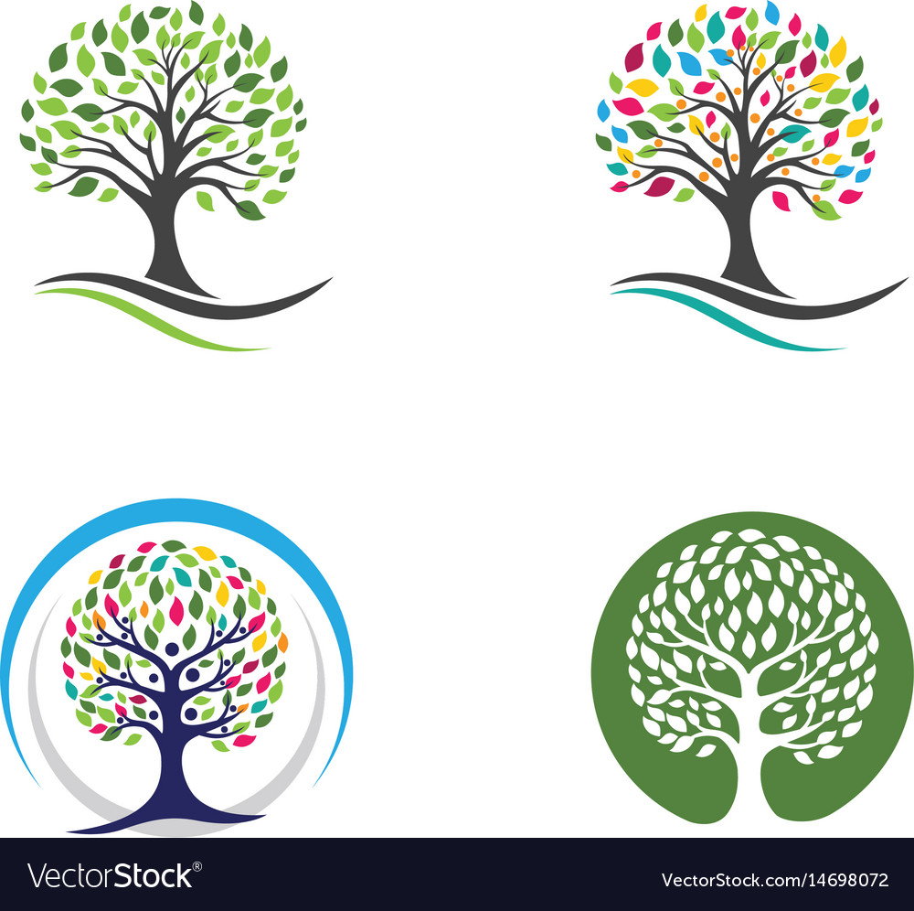 Logos of green leaf ecology nature element