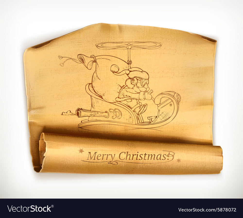 Merry Christmas old scroll
