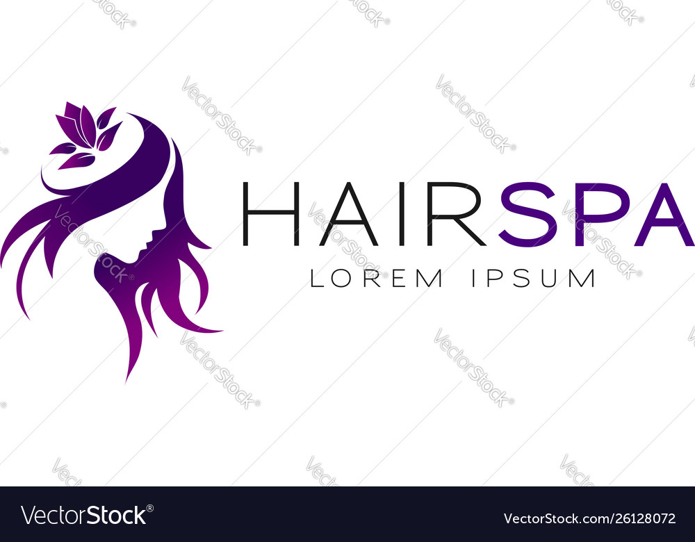 Purple hair spa logo sign symbol icon
