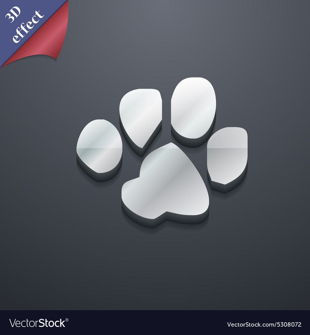 Trace dogs icon symbol 3D style Trendy modern
