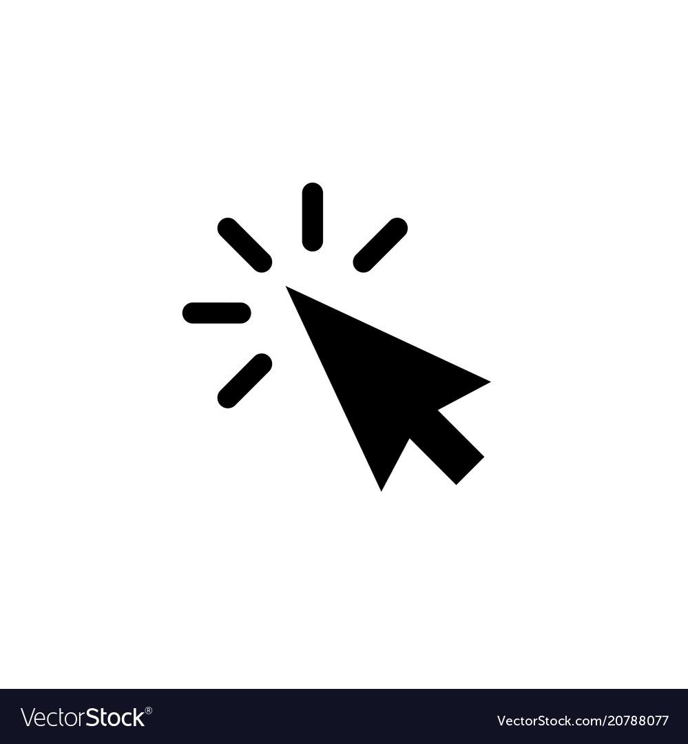 Arrow pointer or click button icon