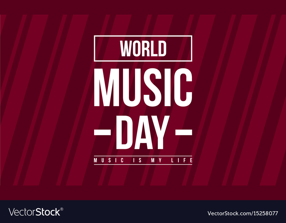 Celebration world music day collection stock
