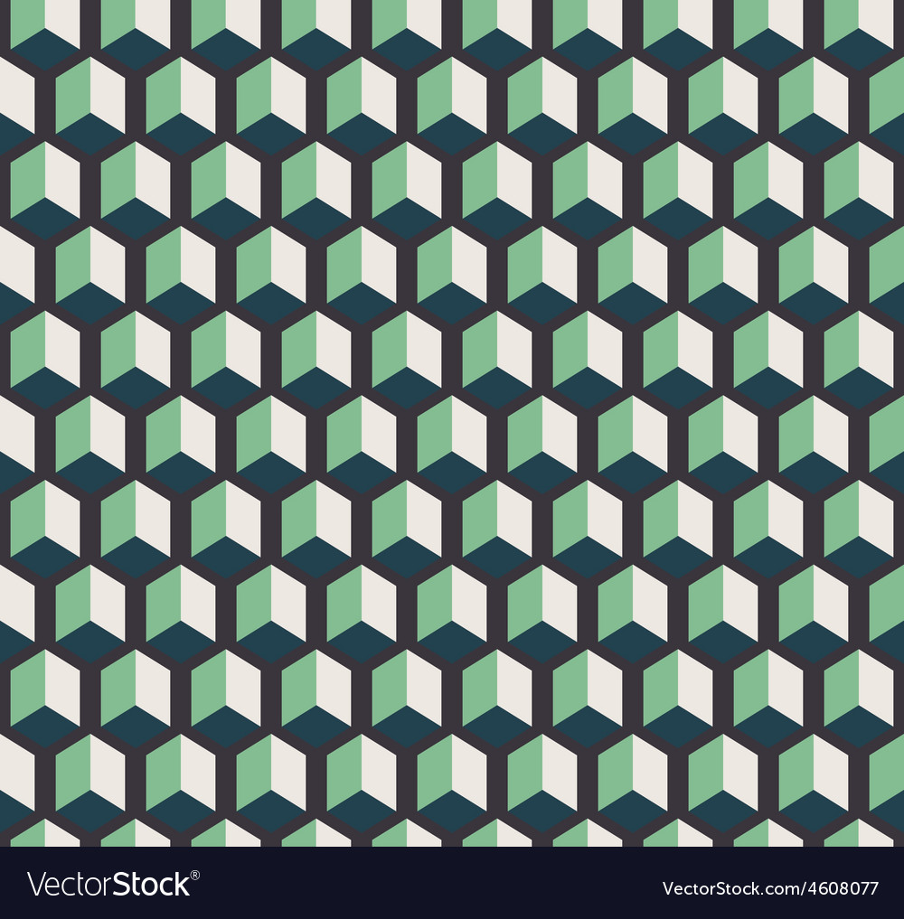 Dark cubes seamless pattern vector image
