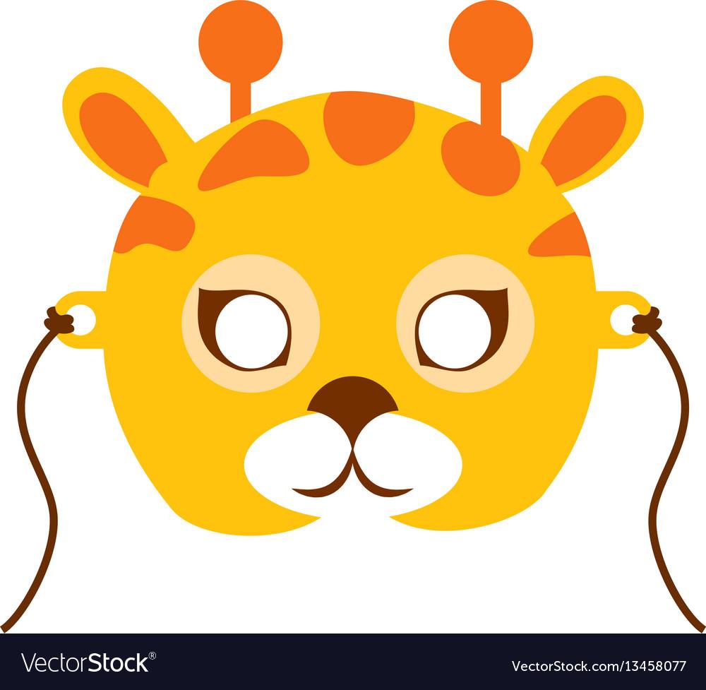 Giraffe animal carnival mask childish masquerade