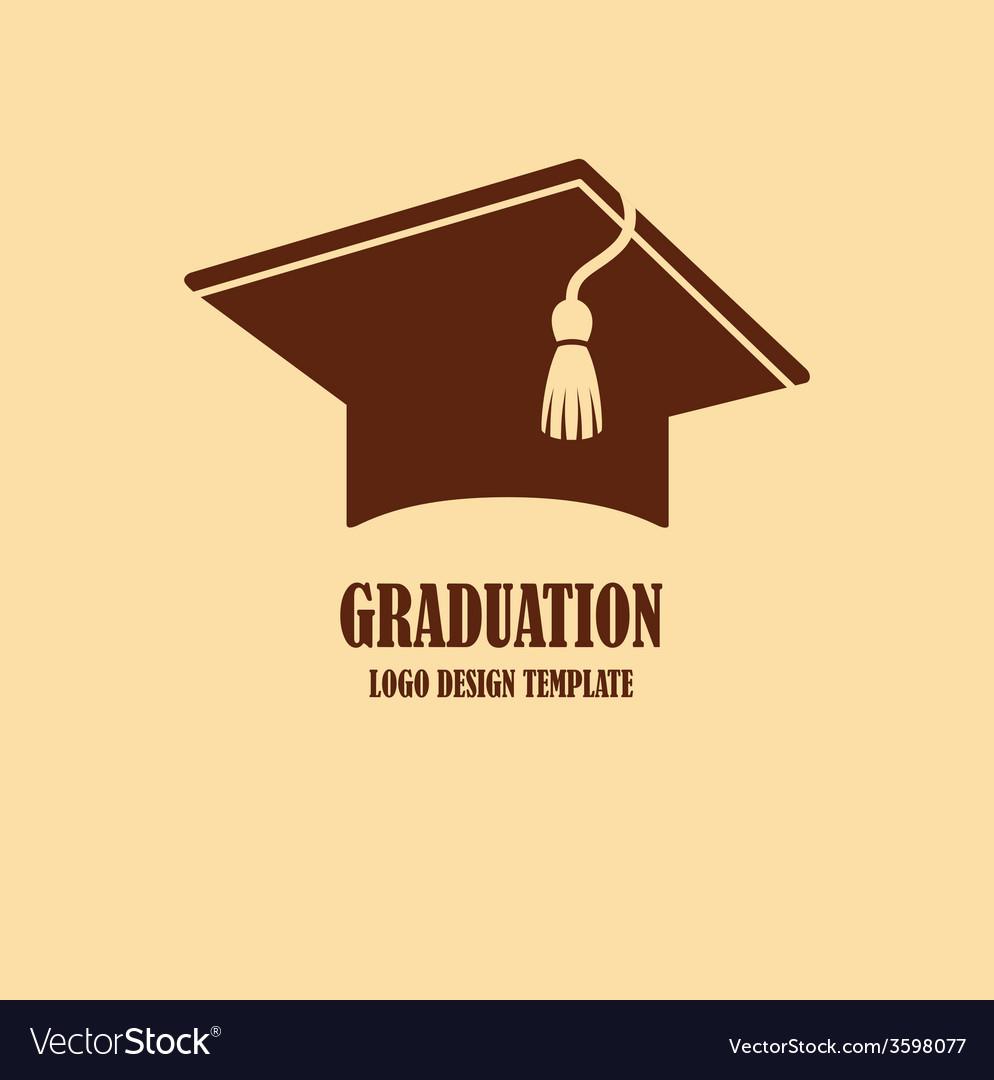 graduation cap logo design royalty free vector image rh vectorstock com graduation cap logo free graduation cap logo vector