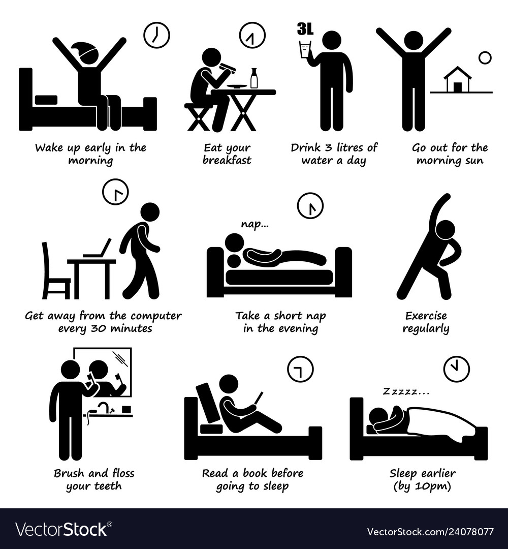 Healthy lifestyles daily routine tips stick