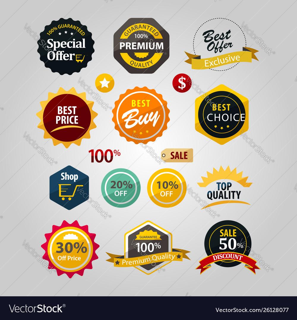Premium discount sticker logo sign symbol icon