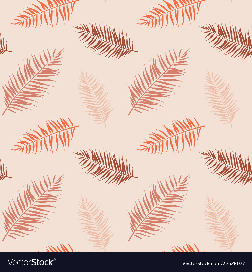Tropical seamless pattern exotic stylized