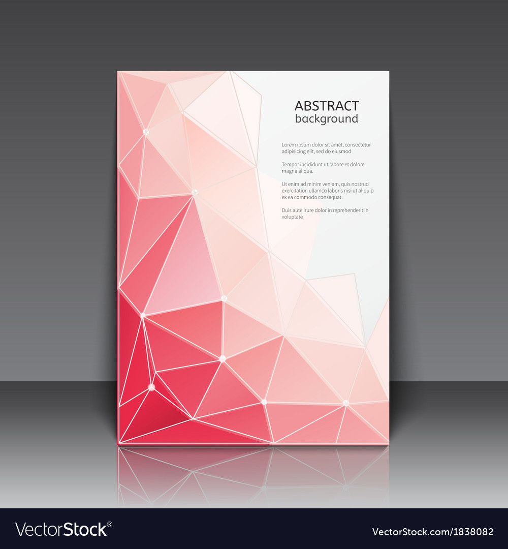 Abstact poster with triangles