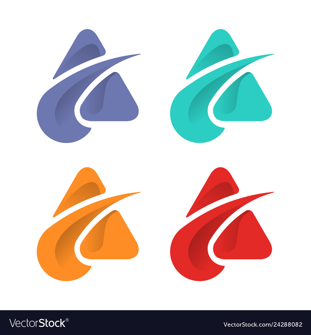 Abstract triangle logo design template