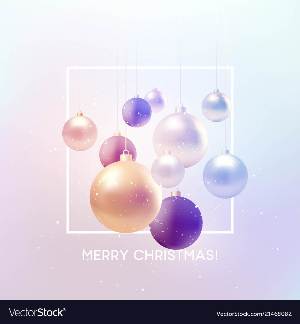 Christmas background with baubles and place