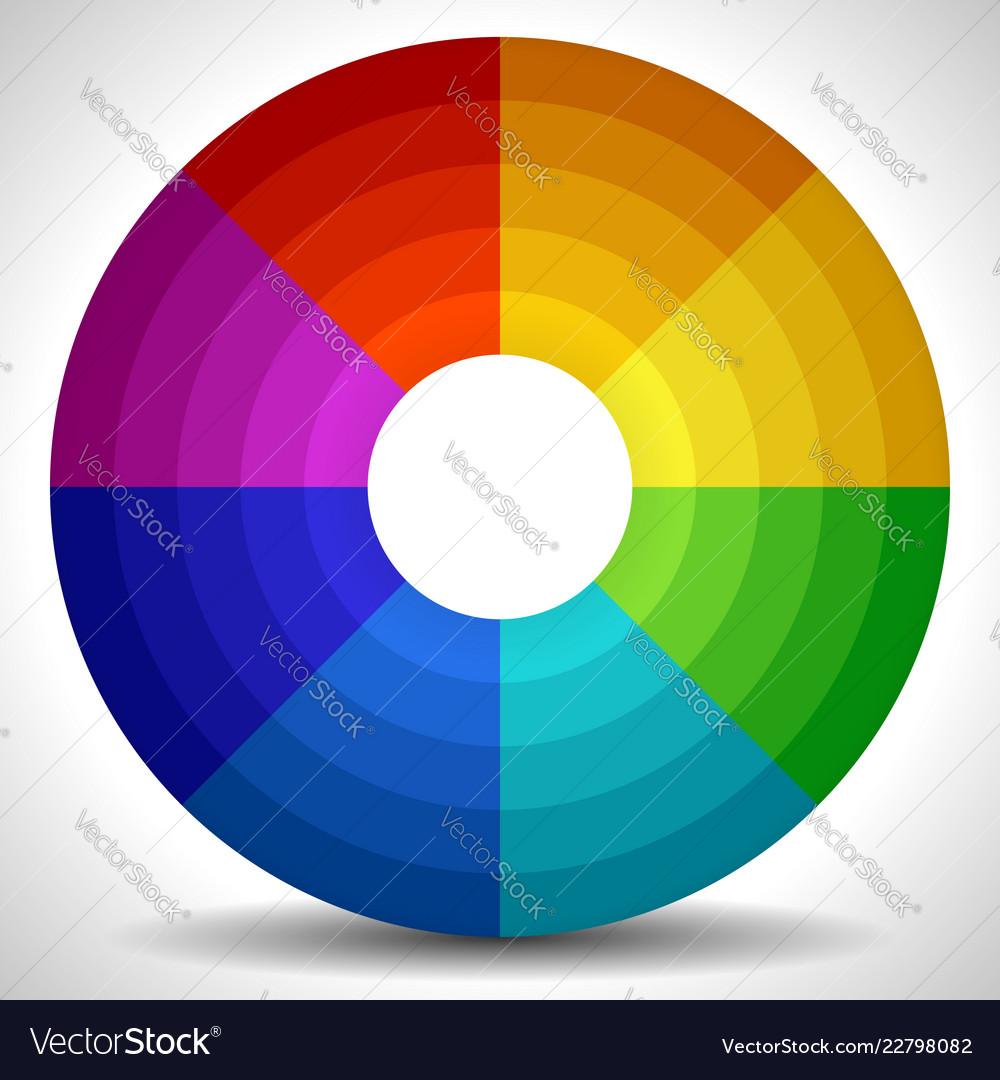 Circular Color Wheel Color Palette Royalty Free Vector Image
